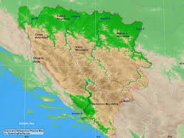 Bosnia Map Bosnia And Herzegovina Physical Map A Learning Family
