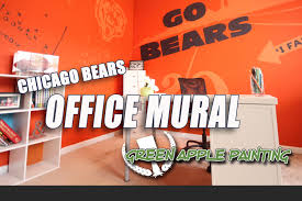 chicago bears office mural with glidden team colors youtube