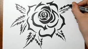 Tribal Tattoos With Roses - how to draw a tribal