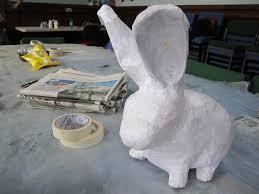 paper mache rabbit paper mache bunny charclam flickr