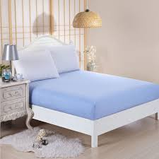 Double King Size Bed 2 Pillow Case Plain Fitted Bed Sheets Dyed Colour Single Double