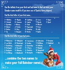 what would your name be if you were one of santa s pets reindeer