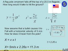 how far does a bullet travel images Solution steps motion in two dimensions ppt download jpg