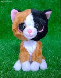 2017 wholesale ty beanie boos tauri cat plush toy rare tanhua