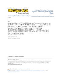 timetable management technique in railway capacity analysis