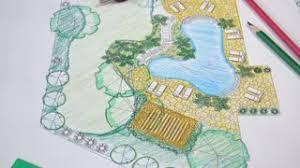 Backyard Plan Landscape Architect Design Backyard Plan For Villa Stock Video