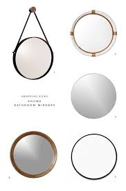 Round Bathroom Mirror by Bathrooms With Round Vanity Mirrors The Interior Collective