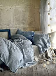Grey Linen Bedding Washed Linen Bedding Collection Home Beds Decoration