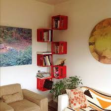 Wood Corner Shelf Design by Diy Ideas With Milk Crates Or Wooden Crates Corner Bookshelves