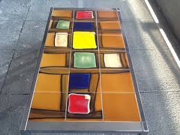 1970s chrome and tiled coffee table retro living london uk