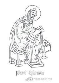 picture st ephraem catholic saints coloring pages st ephraem free