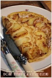 cuisine mariotte crêpe épaisse aux pommes pour la chandeleur recette de laurent
