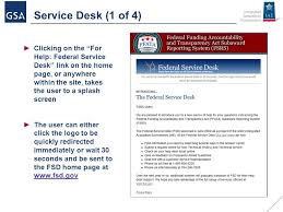 federal service help desk duns ccr ffata fsrs management and reporting implementing the