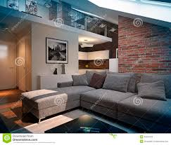 Loft Living Room by Modern Loft Living Room Interior Stock Illustration Image 40037549