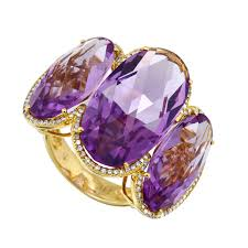 black friday jewelry sale black friday sale 24 carat oval amethyst u0026 diamond halo three