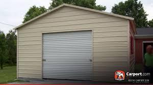 Garage With Carport Steel Garage Metal Building 20 U0027 X 26 U0027 Shop Steel Garages Online