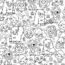 moshi monster coloring pages free large images