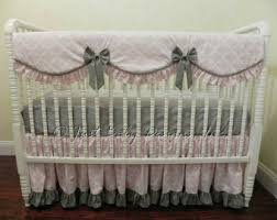 custom deer crib bedding set rhona baby bedding pink