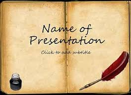 book template for presentation as a book
