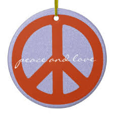 peace sign ornaments keepsake ornaments zazzle