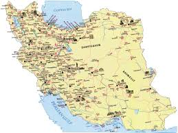 map or iran map