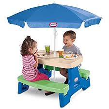 Little Tikes Lego Table Amazon Com Little Tikes Easy Store Junior Picnic Table With