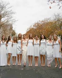 where to get bridesmaid dresses 10 bridal wearing white at real weddings martha stewart