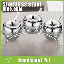 304 stainless steel relish pickle cruet spice container salt sugar