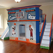 Basketball Stadium Double Loft Bed Boys Beds Pinterest - Double loft bunk beds