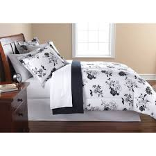 Bed Set Mainstays Black And White Floral Bed In A Bag Bedding Comforter