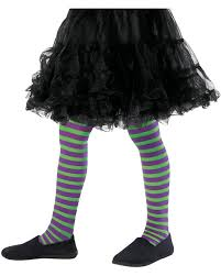 green and purple striped witch child costume striped children u0027s tights green purple to buy horror shop com