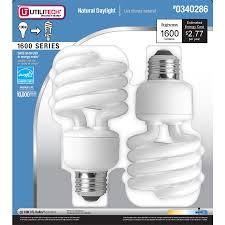 shop utilitech 2 pack 23 watt 100w spiral medium base daylight