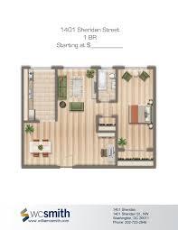 1401 sheridan st n w apartments bedroom floor plans and bedrooms