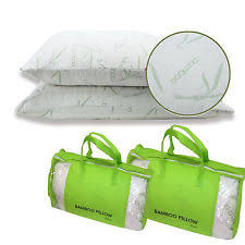 Bamboo Pillow Hotel Comfort 2 Pack King Hotel Bamboo Pillow Memory Foam Hypoallergenic Cool