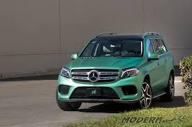 mercedes green mercedes gls 500 matte metallic emerald green wrap modern image