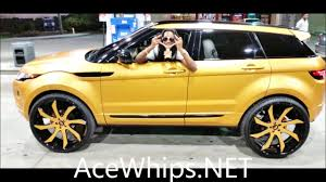 white and gold range rover acewhips net rover evoque on 26 u0027s forgiatos wrapped by tate