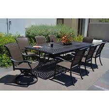 10 Piece Patio Furniture Set - patio 47 kandb patio santa clara 11 piece dining set patio