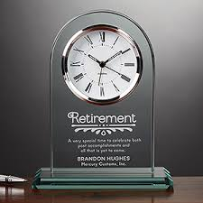engraved keepsakes engraved glass personalized retirement clock timeless recognition
