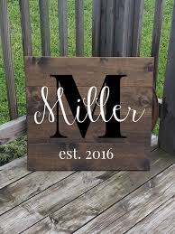 wedding gift name sign personalized family name sign last name sign large wooden sign