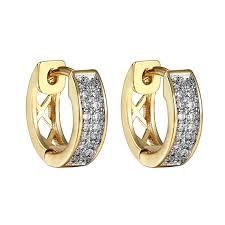 hoop earrings for men cluster set hoop earrings lab created cubic zirconias 14k yellow
