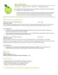 A Example Of A Resume by Example Of Resume Format For Teacher Free Homeroom Teacher Resume