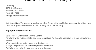 Driver Resume Sample by Driver Resumes Cab Driver Resume Sample