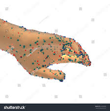 hand germs disease spread dangers spreading stock illustration