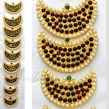 bharatanatyam hair accessories bharatanatyam hair ornaments 9 pieces billai braid kemp stones