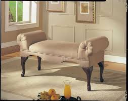 bedroom bench acme aston microfiber rolled arm beige ideas picture