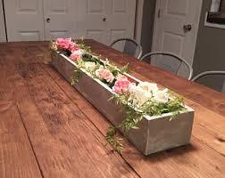 wood box centerpiece etsy
