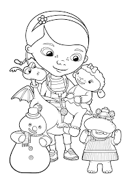 doc mcstuffins coloring pages printable realistic coloring pages