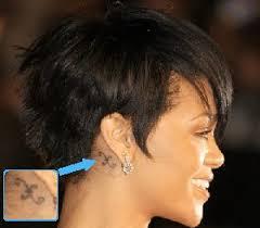 rihanna behind the ear tattoos tattoomagz