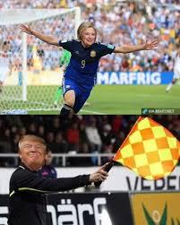 Football Player Meme - the best donald trump v hillary clinton football memes