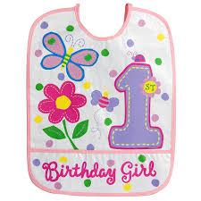 1st birthday bib amscan birthday bib girl vinyl baby bib baby